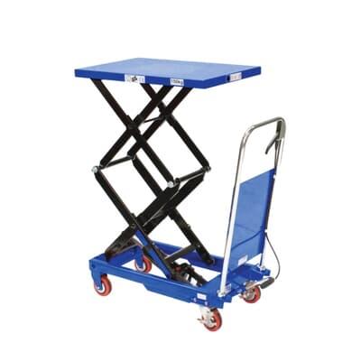 Mobile Scissor Table, high lift, 150kg, 450W x 700L platform
