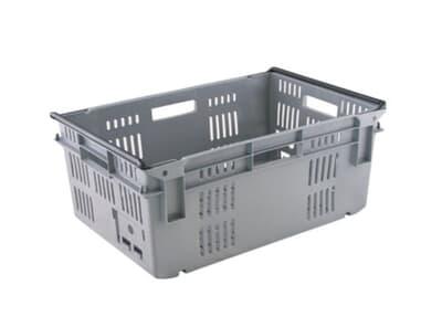 Re-Crate Crate, 600L x 400W x 245H, 49L, standard base, grey