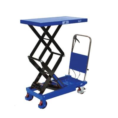 Mobile Scissor Table, high lift, 350kg, 550W x 910L platform