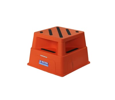 Heavy Duty Plastic Step Stool, 250kg rated, 520W x 365H