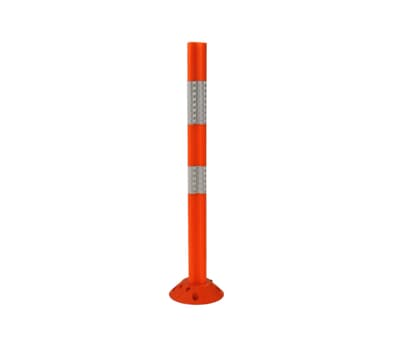 Flexi Bollard 2 Piece, 930mm high, 200mm base, orange