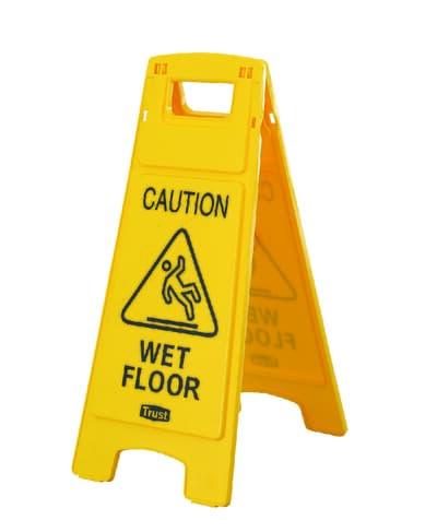 Floor sign, 'Wet Floor', 660H x 280W x 305D