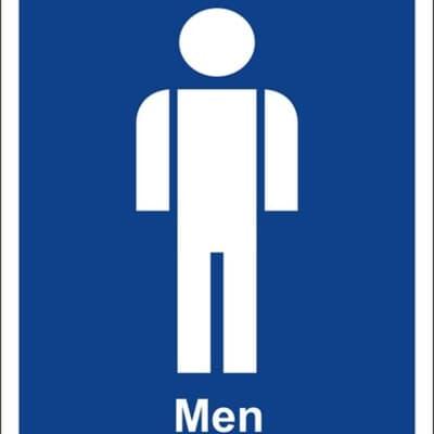 """PVC Sign, 300 x 240mm, """"Men"""""""
