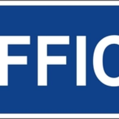 "PVC Sign, 120 x 300mm, ""Office"""