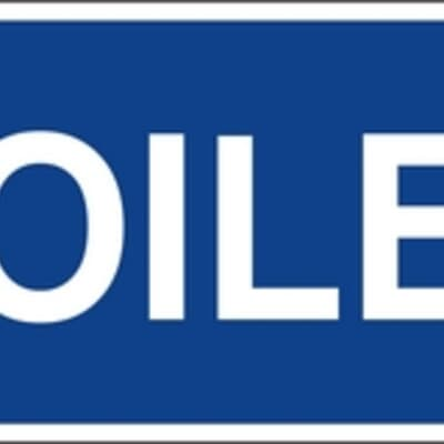 "PVC Sign, 120 x 300mm, ""Toilet"""