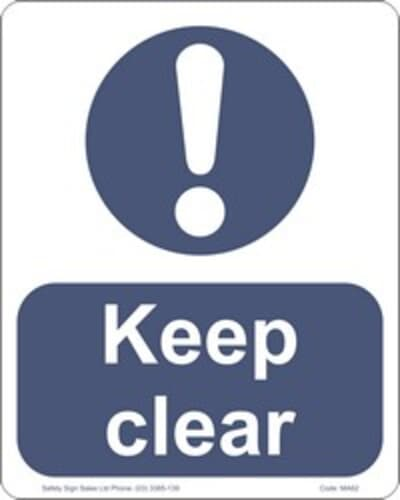 "PVC Sign, 300 x 240mm, ""Keep clear"""