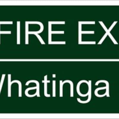"PVC Sign, 200 x 96mm, ""Fire exit"" English & Maori"