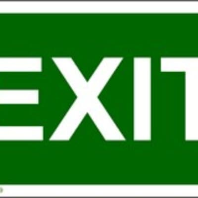 """PVC Sign, 150 x 480mm, """"Exit"""""""
