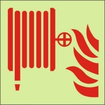 "PVC Sign, 200 x 400mm, ""Fire hose reel"""
