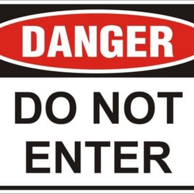 Do Not Enter PVC, 240 x 300mm, DANGER CYO