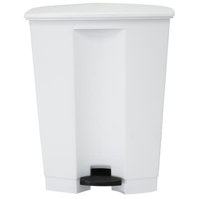 Step-On Bin, 68L, white, 500W x 410D x 670H