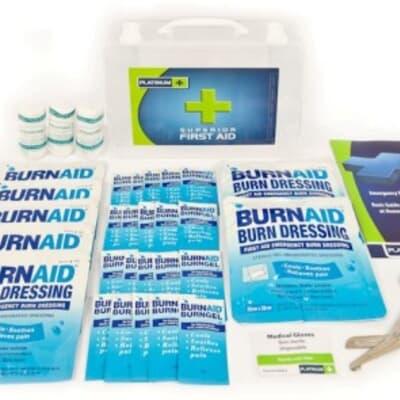 Platinum Burnstop Burns Kit, 32 piece kit, plastic case