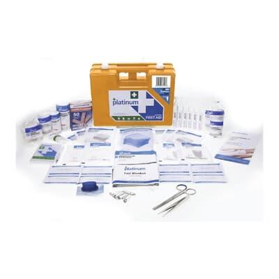 Platinum First Aid Kit, Medium Plastic case kit, 105 piece