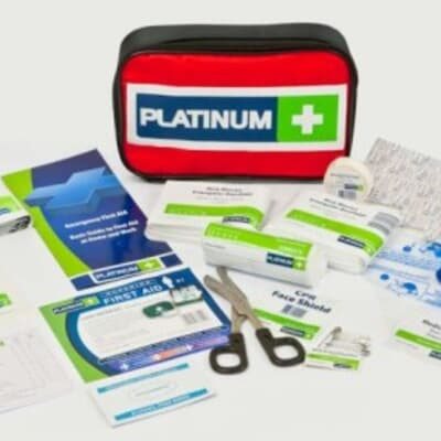 Platinum First Aid Kit, Medium Kit, Metal Cabinet, 105 piece