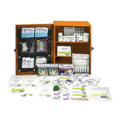 Platinum First Aid Kit, Large Metal Cabinet, 172 piece