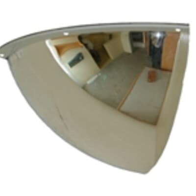 Indoor Dome Convex Mirror, Quarter Dome