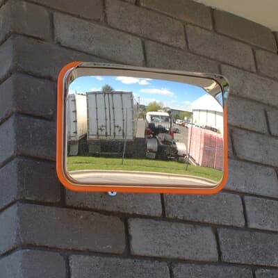 Rectangle Stainless Steel Mirror, 225x320mm, with bracket