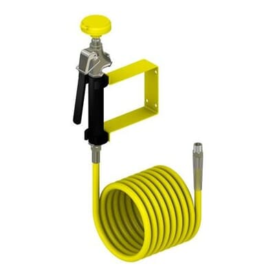 Drench Hose, wall mounted, 12ft hose