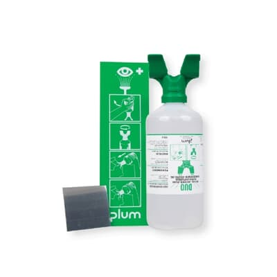 Plum Eye Wash, Wall Mounted, 1000ml dual outlet Bottle