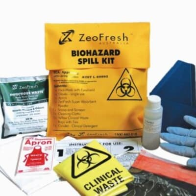 Biohazard Spill Kit, 220 x 260 x 85mm, PVC satchel