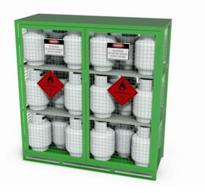 Chemshed Gas Cylinder Store Large, 1690W x 650D x 1820mmH