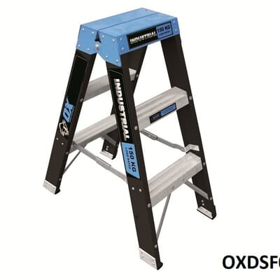 Trade Series Fibreglass Double Sided Step Ladder