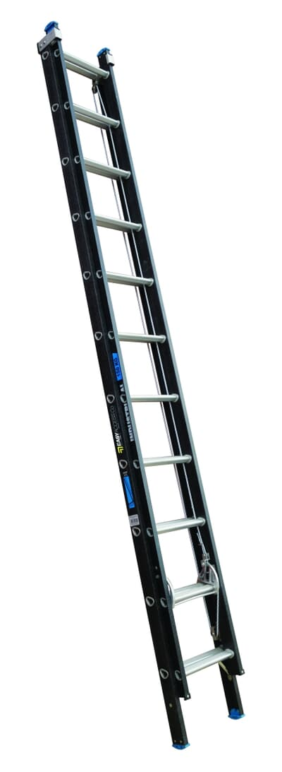 Trade Series Fibreglass Extension Ladder, Rope Operated