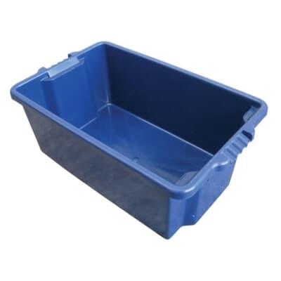 Stack & Nest Plastic Bin, 680L x 410W x 260H, 54L, blue