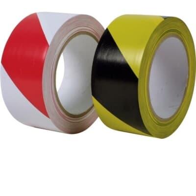 PVC Floor Tape, Striped, 33m x 48mm, black/yellow