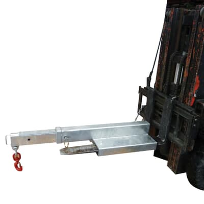 Forklift Jib Short, 4500kg capacity, 1.2m-2.0m, zinc finish