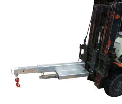 Forklift Jib Short, 4500kg capacity, 1.2m-2.0m, zinc finish