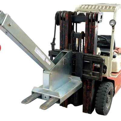 Forklift Tilting Jib Long, 4500kg capacity, 2.0m-3.5m, zinc