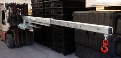 Slip-On Long Jib, 5000kg capacity, 2.0m-3.5m, galvanised