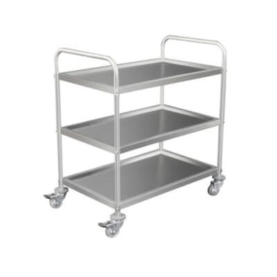 Economy Stainless Steel 3 Tier Trolley, 850mmW x 530mmD