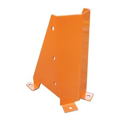 Post Protector, U Shaped Steel, 400mmH, Orange