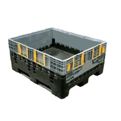 Box Pallet, heavy duty, low wall collapsible, 410L