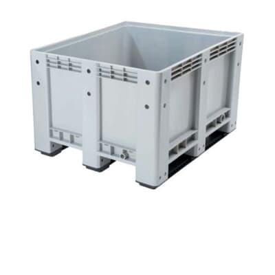 Box Pallet, solid, 600L, 1200W x 1000L x 760H, grey