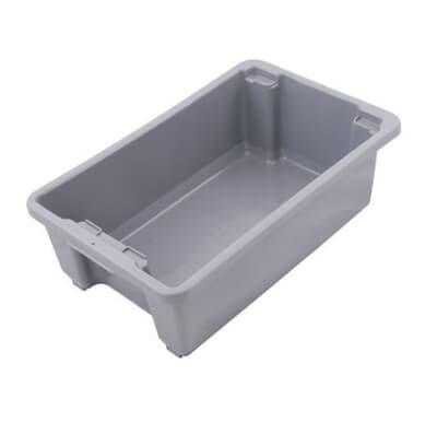 Standard Plastic Bin, 645L x 413W x 397H, 68L