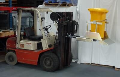 Forklift Wheelie Bin Tipper, 1 Bin