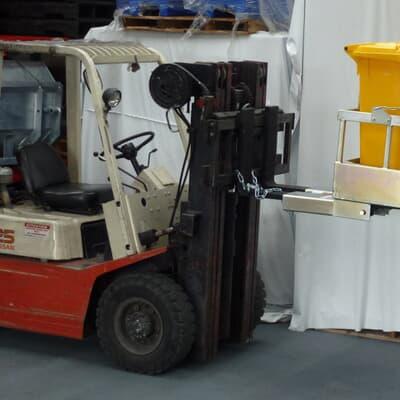 Forklift Wheelie Bin Tipper, 2 Bin