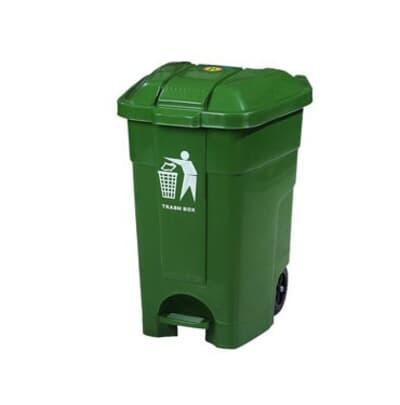 Mobile Waste Bin, 70L, Colour: Green