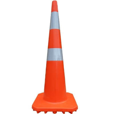 Traffic Cone, PVC, 900mmH, with reflector tape