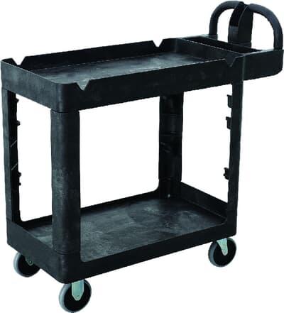 Small Utility Cart, 980L x 435W x 987H, black