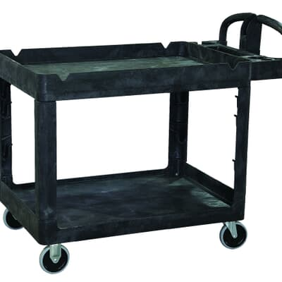 Large Utility Cart, 1150L x 640W x 987H, black