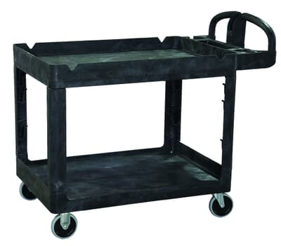 Heavy Duty Utility Cart, Recessed Shelf