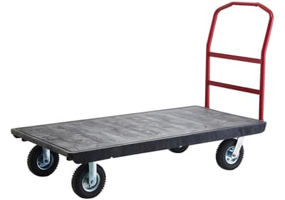 Platform Truck With Pneumatic Castors, 540kg rated