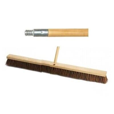Industrial Heavy Duty Broom, 900mm, with wooden handle
