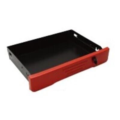 Sliding drawer, lockable