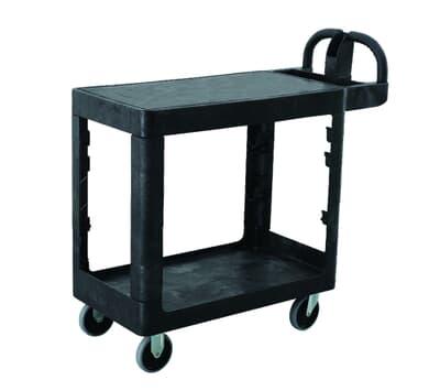 Utility Cart - Flat Shelf, 980mm x 435mm x 970mm, 2 Shelves