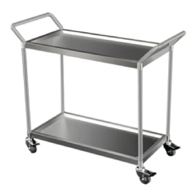 Stainless Steel 2 Tier Trolley, 870mm L x 420mm W x 800mm H